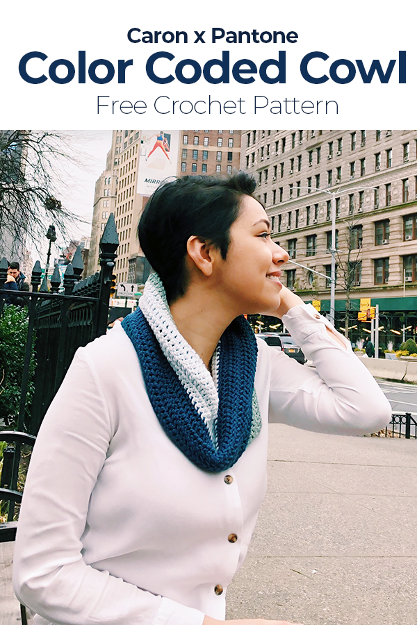 Color Coded Cowl – Free Crochet Pattern