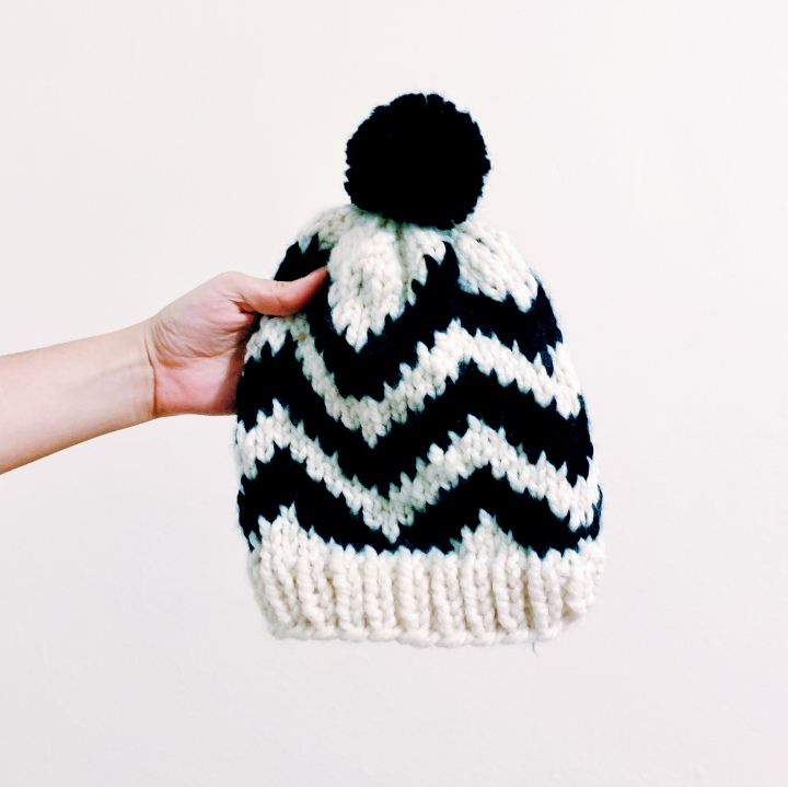 Chevron Street Hat Knitting Pattern